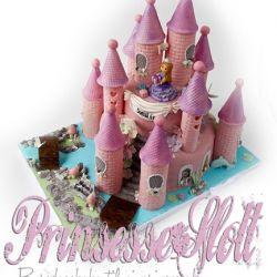 PrinsesseSlott - bursdagskake med prinsesse, sjømonster, glitter og blomster…! {Bildedryss}
