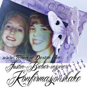 Sniktitt Konfirmasjonskake - Justin Bieber inspirert!