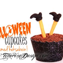 { Reblogging } HalloweenCupcakes - med heksebein!