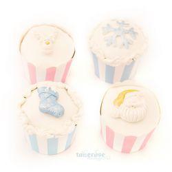 { pastellfargede cupcakes til jul }