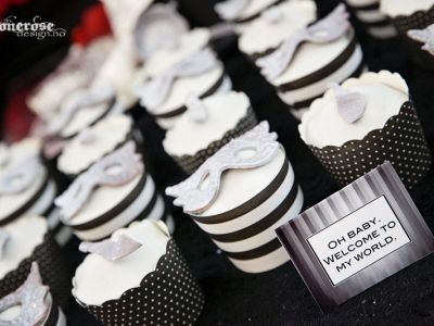 { Fifty shades of Grey // Cupcakes }