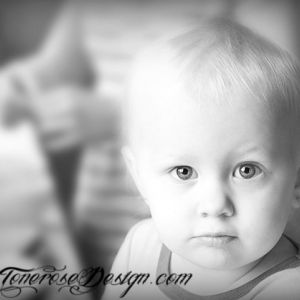 Barnefotografering; litt skarpt–resten diffust