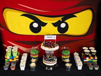 { Ninjago-bursdag // DIY // dessertbord }