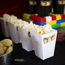 { Popcornbeger // Gratis nedlasting // Ninjago // Barnebursdag }