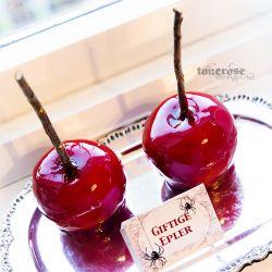 """{ karameliserte epler // Halloween // reblogging // """"giftige epler"""" }"""