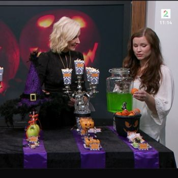 {God morgen Norge TV2 // Halloween // behind the scenes // JukseSuperMamma }