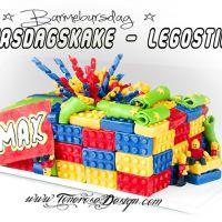 Legokake til barnebursdag