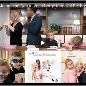{ Video // JukseSuperMamma på God morgen Norge // Karneval DIY }