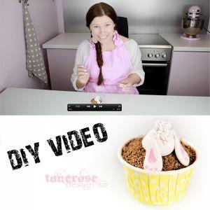 { Video // Påskehare av marsipan // Cupcake }