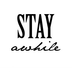 { Gratis print // stay awhile // oppussing gangen }