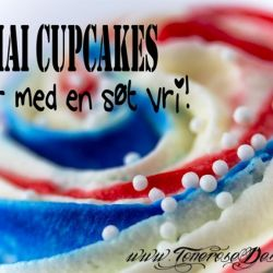 { Cupcake med en søt vri til 17 Mai // DIY }