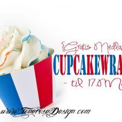 {Gratis Nedlasting} Cupcake Wrapper til 17. Mai