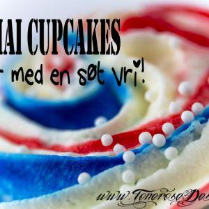 Enkle 17. Mai Cupcakes – med en søt vri!