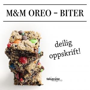 { Oppskrift på deilige m&m´s Oreo - biter ! }