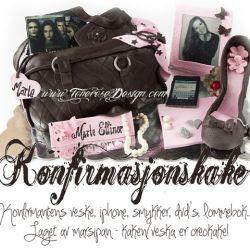 Konfirmasjonskake– Veskekake! M/konfirmantens iphone, smykker, Twilight, lommebok, penesko etc… {Bildedryss}