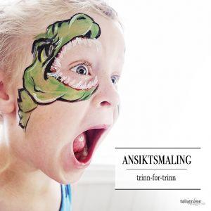 { Ansiktsmaling trinn-for-trinn Dinosaur / Slange }