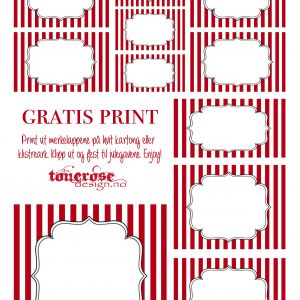 { Gratis merkelapper til jul - candy cane! }