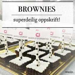 { Superdeilige brownies! // Oppskrift }