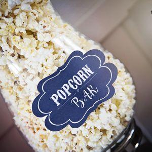{ Popcorn bar // rustikt skilt - tavle, gratis }