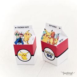 { Pokemon-party: gratis mini-melkekartonger DIY }
