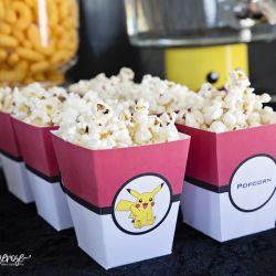 { Gratis popcornbeger - perfekt til Pokémon-party! }
