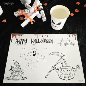 { Gratis print // Dekkebrikke til Halloween // Aktivitetsark }