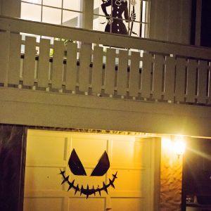 { HalloweenParty - hvordan vi pyntet ute }