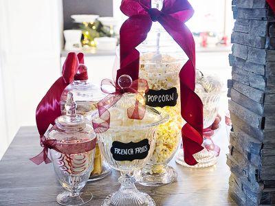 { Julesnacks-buffè // Tips til jul i eget hjem // Mini-dessertbord }