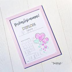 { Morsdag // Gratis print // Diplom DIY }