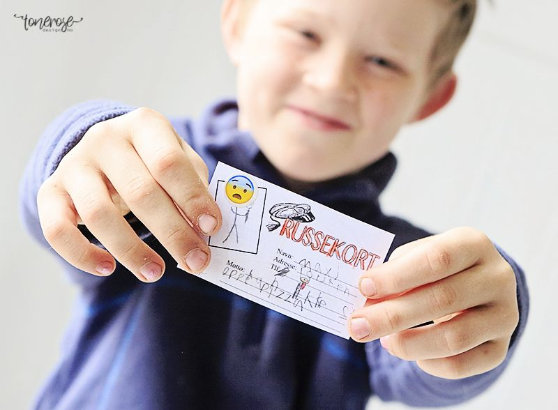 { La barna lage egne russekort! // Gratis print }