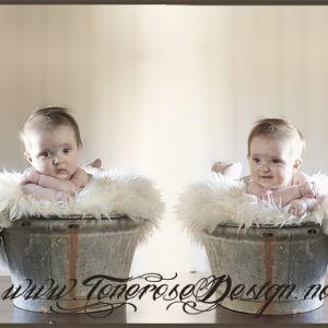 Sinkbalje til fotografering av nydelig baby