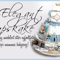 {Bildedryss} Elegant 2etg Dåpskake til gutt