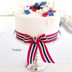 { Vakker kake til 17.Mai - lag den selv! // DIY }