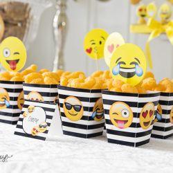 { Emoji-party // Gratis print // Popcornbokser }