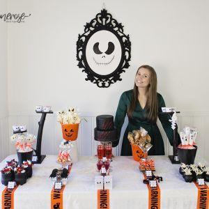 Halloween dessertbord // Oransje, hvitt & svart