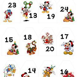 { Disney // Tall til adventskalender // Gratis print }