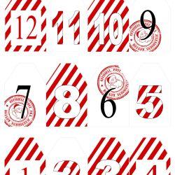 { Candy Cane // Tall til adventskalender // Gratis print }