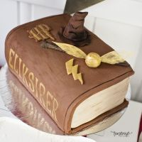 { Marsipankake // Harry Potter bursdag // Bok-kake }