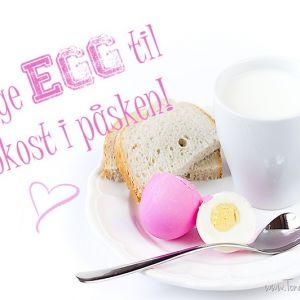 Herlige egg til frokost i påsken!
