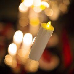 { Svevende lys i storsalen på Galtvort // DIY // Harry Potter bursdag }