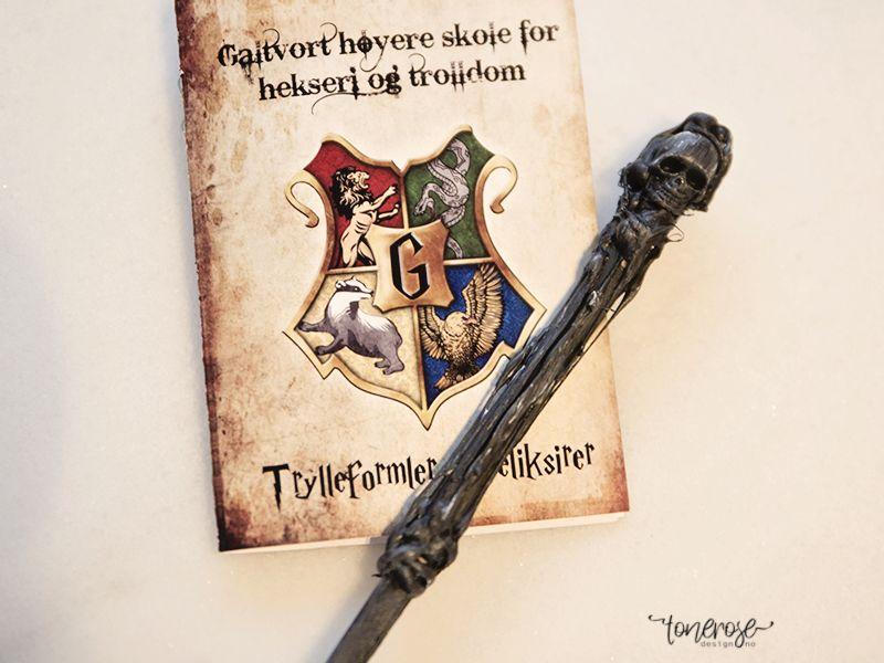 { Gratis print // Trylleformelhefte // Harry Potter bursdag }