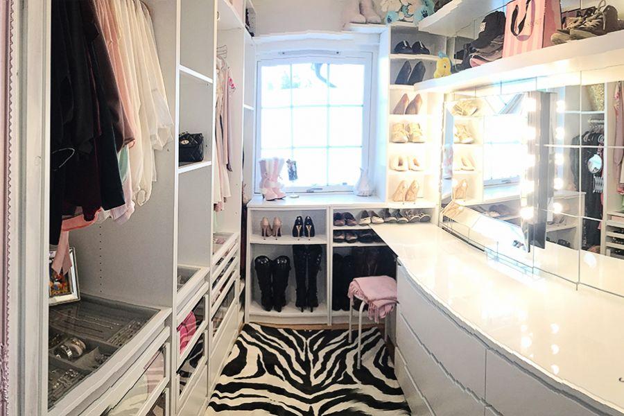 { Oppdatering garderoberom // Walk-in-closet }