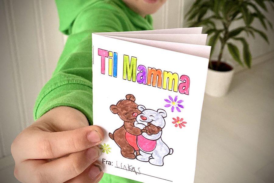 { Mini-bok til mamma // Morsdag // Gratis print }