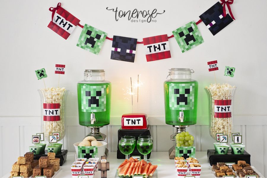 Minecraft bursdag // Dessertbord