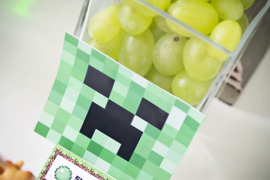 Minecraft party // Gratis etiketter
