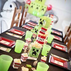 Minecraft party // Borddekking // Barnebursdag