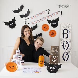 Halloweenpynt barna kan lage // VIDEO