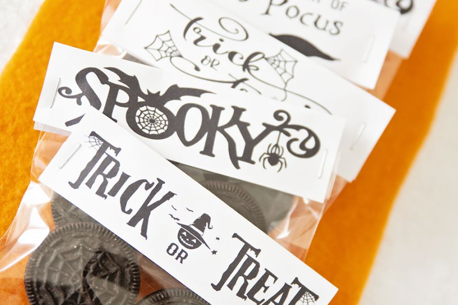 Halloween godteri // Gratis print // Idè til Halloween