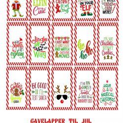 Gavelapper til jul // Gratis print