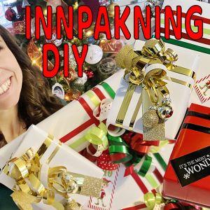Julegaveinnpakning // DIY // VIDEO // Hvordan pakke inn vakre gaver